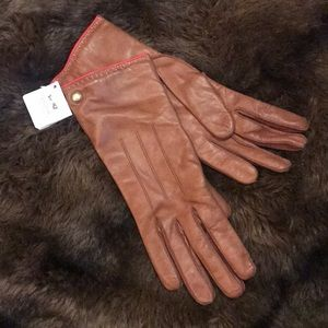 Coach Authentic Tan Leather Gloves